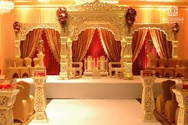 Classic Red And Gold Indian Wedding Decorations