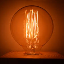 40 watt incandescent g80 globe vintage edison light bulb squirrel
