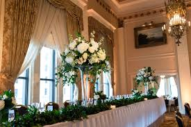 Wedding Long Head Table Floral Arrangements Flowers Hydrangeas