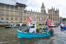 flotilla battle in london over brexit