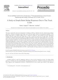 100 Truck Loads Available PDF A Study On Simple Beam Bridge Responses Due To Thai
