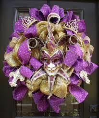 148 best wreaths mardi gras images on pinterest mardi gras