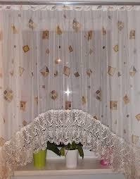 blumenfenster vorhang gardine mit einer wundersch nen