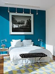 Coral Colored Decorative Accents by Cool Bedroom Accent Wall With Navy Blue And Coral Bedroom Accent
