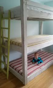 Triple Bunk Bed Plans Free by 14 Best Triple Bunk Bed Plans Images On Pinterest Triple Bunk