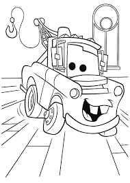 Mater Disney Cars Character Tow Coloring Pages