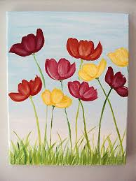 Best 25 Flower Canvas Ideas On Pinterest