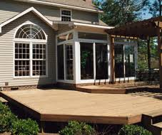 wood deck with pergola