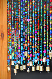 Doorway Beaded Curtains Wood by Beaded Curtain Bead Curtain Bohemian Curtain Window Curtain