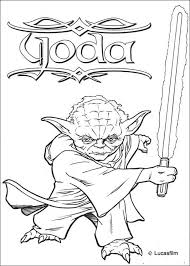 Master Yoda Coloring Pages Hellokids Com Within