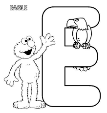 Sesame Street Letter And Number Color Pages