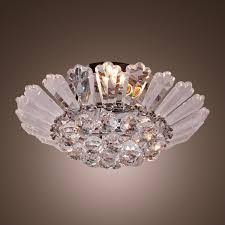 Menards Flush Ceiling Lights by Modern Chrome Semi Flush Mount Crystal Chandelier For Interior