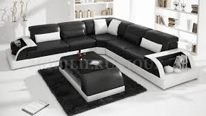 canape d angle noir et blanc canapé d angle en cuir italien max 2
