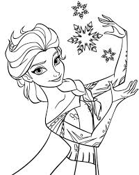 Elsa Frozen Coloring Pages Online Fever Free Printable Interesting Pictures Print Queen