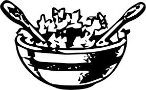 Clipart salad bowl