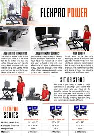 Varidesk Pro Plus 48 by Amazon Com Flexpro Power 36 Inch Electric Standing Desk From