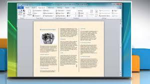 How To Make A Tri Fold Brochure In MicrosoftR Word 2007
