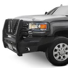 Frontier Truck Gear® - Full Width Front HD Bumper With Brush Guard