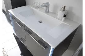 leonardo living badezimmer bad 116 in glas quarzgrau möbel