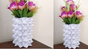 How To Make Flower Vase Out Of Paper