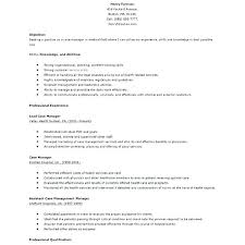 Case Manager Resume Example Sample Trendy Idea