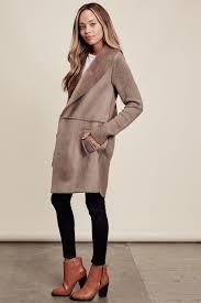 memdalet women u0027s faux fur cardigan coat mocha coatigan