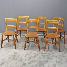 100 Birch Dining Chairs Antique Set Of 6 Satin ANTIQUESCOUK