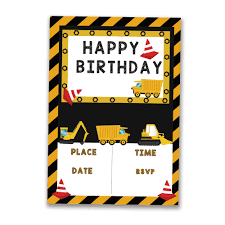 20PCS Construction Trucks Theme Invitations Card Birthday Party ... Birthday Cstruction Themed Party With Free Printables  Noted Trucks Pictures Amazon Com 12340 Watsons Cstruction Truck Birthday Party Holy City Chic Truck Dessert Cake Plates Napkins And Cups Home Ideas Invitations Monster Fire Envelopes First Themed Invites Items Similar To Augustines 2nd M Loves Stay At Homeista Boys Name Age Poster Crane