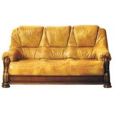 canape cuir rustique canapé cuir et bois boiserie finition chêne ta achat vente