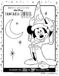 Fantasia MICKEY MOUSE With HAT 3 Coloring Page Color Online Print