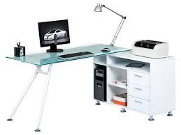 Glass And Metal Corner Computer Desk White by C Frame Glass And Metal Corner Computer Desk L Shape Corner