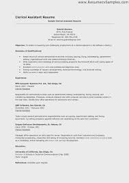 Clerical Work Resume Template Elegant Amazing Administrative Within Examples Graceful