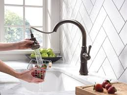 Delta Oiled Bronze Kitchen Faucet by Delta Faucet 9197 Rb Dst Cassidy Single Handle Pull Down Kitchen