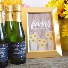 Beautiful Rustic Bridal Shower Party Favor Table Top Decoration Setup Idea