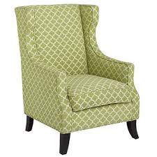 alec wing chair now available in green trellis pier1 retail