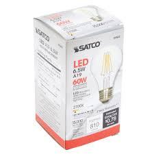 Satco Led A19 Lamps by Satco S9562 6 5 Watt 60 Watt Equivalent Clear Warm White Led