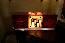 Super Mario Question Block Lamp Uk by Stained Glass Super Mario Lamp I Just Finished Rebrn Com