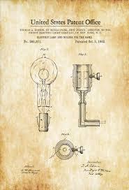 edison light bulb and holder patent 1882 light bulb edison
