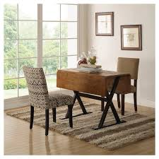 Target Fabric Dining Room Chairs by Drop Leaf Rustic 40 U0026 034 Dining Table Brown Threshold