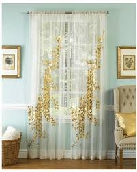 Sheer Curtain Panels 108 Inches by Bargains On Lhasa Gold And White 108 X 50 Inch Sheer Curtain