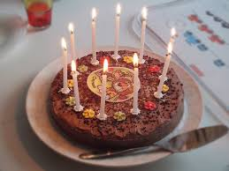 Birthday Chocolate cake with candles ghana pictures