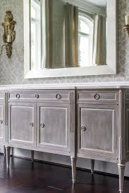 Gray Distressed French Buffet Cabinet