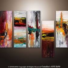 Abstract Modern Palette Knife Painting Original Art By Catalin 22900