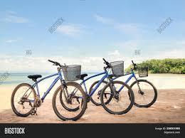 Bicycles On The Beach Cycling Riding Biking Bike