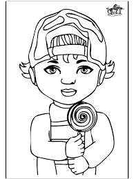 Draw Little Boy Coloring Pages At Remodelling Tablet