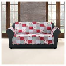 pink heirloom cottage patchwork loveseat furniture cover sure