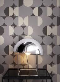 newroom vliestapete grau tapete modern kreise mustertapete retrotapete schwarz silber retro geometrisch grafik muster für wohnzimmer schlafzimmer