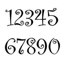 Curlz Font Rustic House Number Or Letter Set Of 1