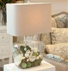 Fillable Lamp Base Ideas by Fillable Bottle Lamp With Linen Shade