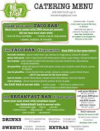 100 Big Truck Taco Menu Catering S